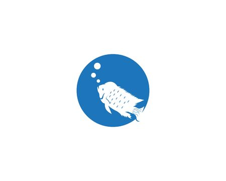 Texas Chiclid fish logo vector illustration