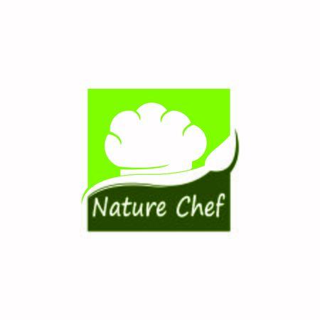 Nature chef logo design vector template