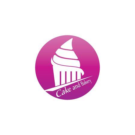 Cake and bakery logo vector template Иллюстрация