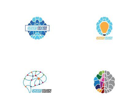 Intelligente Gehirnlogo-Vektorvorlage Logo