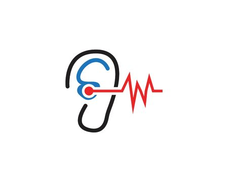Ear icon and symbol logo vector template 写真素材 - 148684133