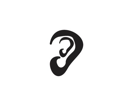 Ear icon and symbol logo vector template