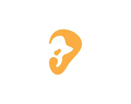 Ear icon and symbol logo vector template   イラスト・ベクター素材