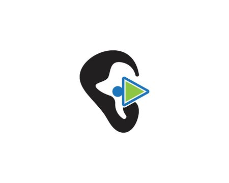 Ear icon and symbol logo vector template 写真素材 - 148684138
