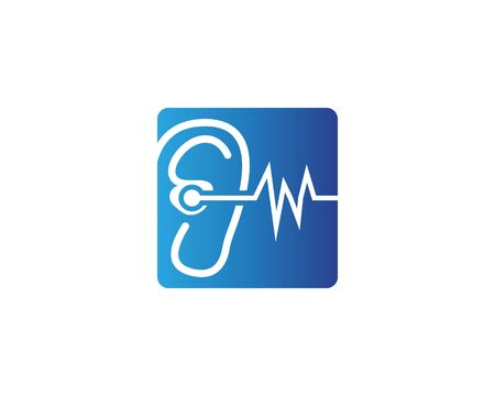 Ear icon and symbol logo vector template 写真素材 - 148684142