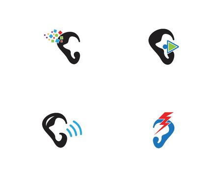 Ear icon and symbol logo vector template 写真素材 - 148684169