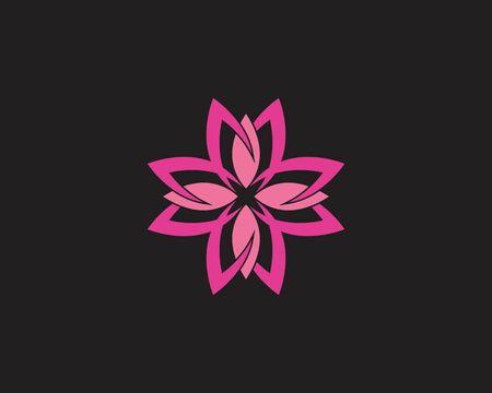 Rose flower Logo Template vector icon illustration Logo