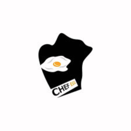 Chef egg icon and symbol vector template Vettoriali