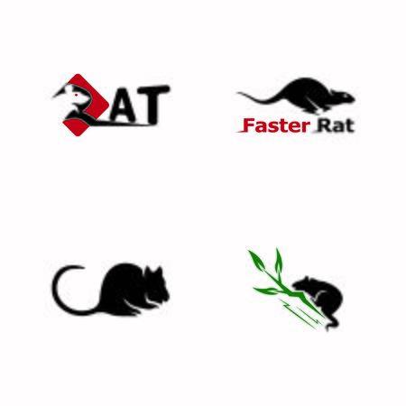 Rat  cartoon silhouette icon and symbol vector illustration Vettoriali