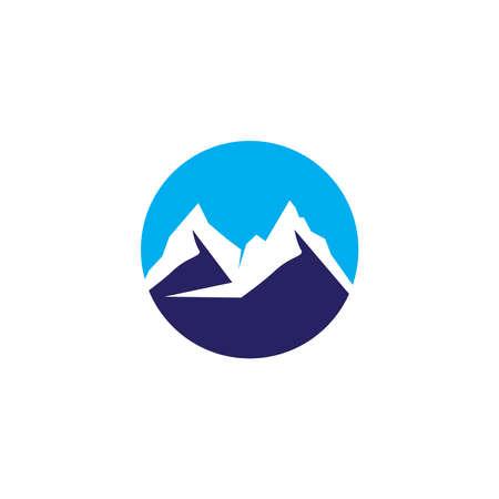 Mountain simple design icon vector template
