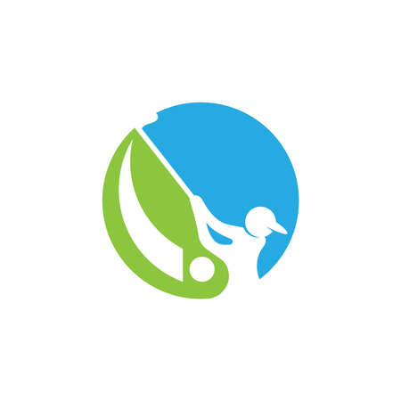 Golf icon and symbol vector illustration