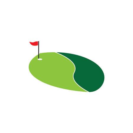 Golf field icon and symbol vector illustration