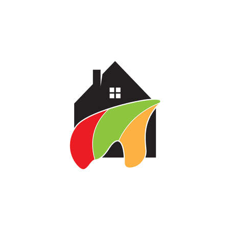 House painting  vector template Vettoriali