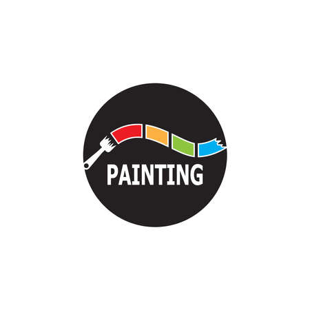 Painting  Template vector icon illustration design