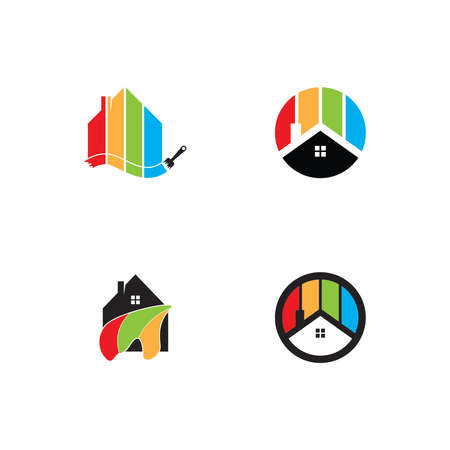 House painting logo vector template Vettoriali