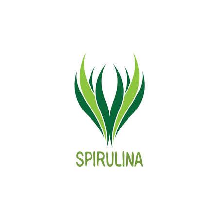 Spirulina icon and symbol vector logo template illustration