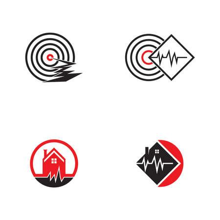 Earthquake disaster logo vector template Logo