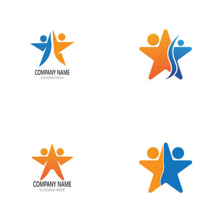 Success people icon and symbol vector template Vectores