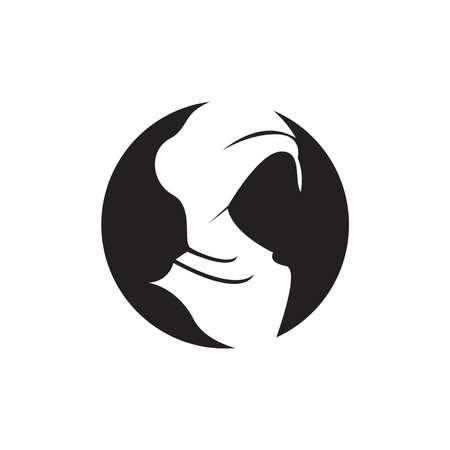 Woman hijab stylized illustration
