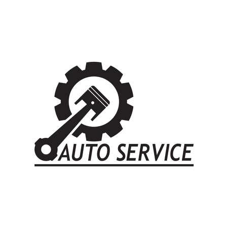 Auto car service logo design vector template