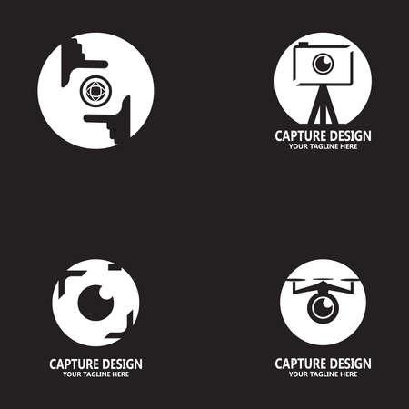 Capture camera photography icon logo design vector template Logos