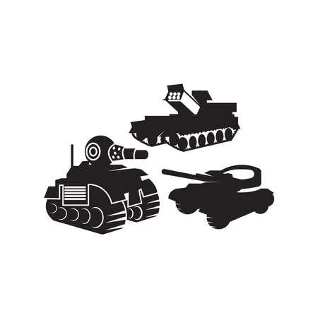 Military tank logo vector template
