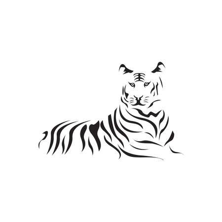 Tiger head logo template vector icon design