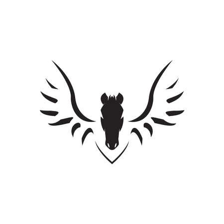 Pegasus icon and symbol vector illustration