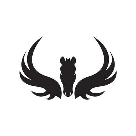 Pegasus icon and symbol vector illustration Ilustracje wektorowe