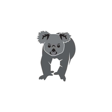 Koala cartoon silhouette   vector illustration