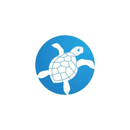Turtle animal cartoon icon vector illustration