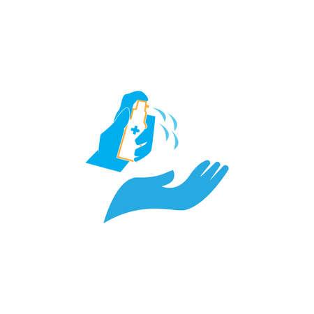Hand people use hand sanitizer  イラスト・ベクター素材