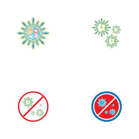 COVID -19  logo vector template illustration