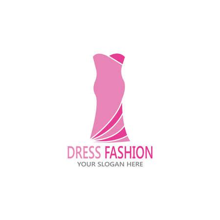 Dress fashion logo vector template  イラスト・ベクター素材