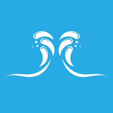 Water splash logo vector template