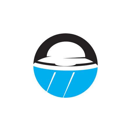 UFO icon and symbol vector template