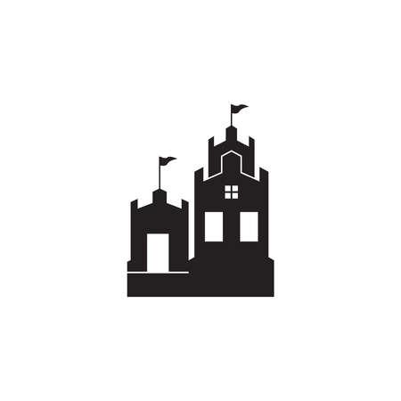 Castle logo vector template illustration