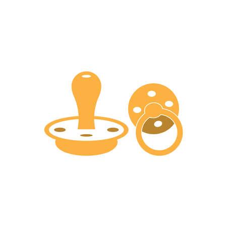Baby pacifier logo vector template