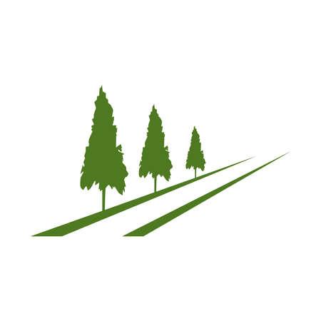 Cheddar tree logo template vector Иллюстрация