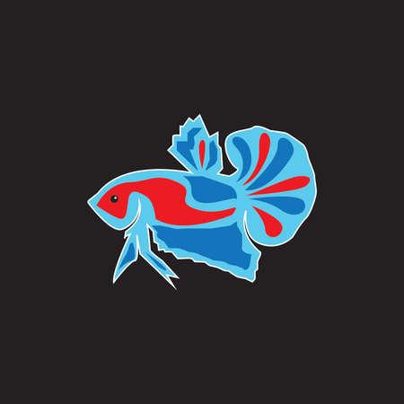 Betta fish logo vector template Illustration