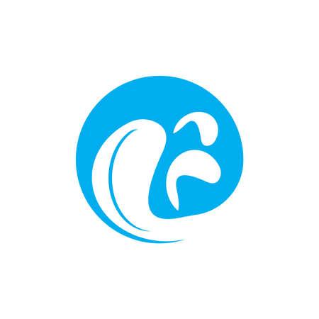 Water wave icon vector illustration design logo Illustration