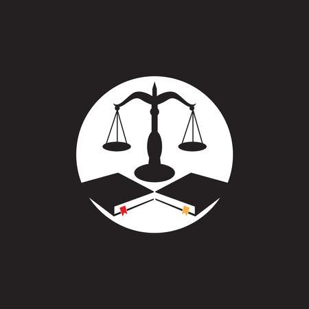 Justice law logo vector template 矢量图像