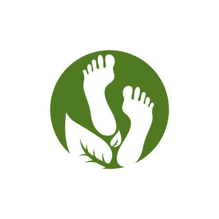 Foot therapy logo vector template