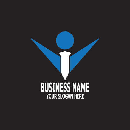 Business people icon logo vector illustration