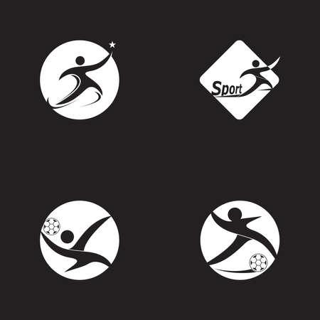 Running people logo vector template 矢量图像