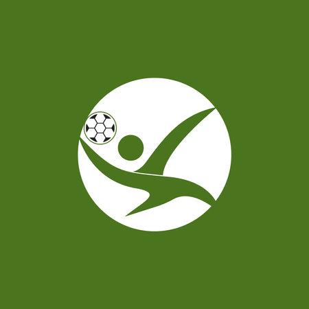 People football logo vector illustration