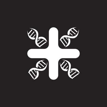 Genetic blood logo vector template