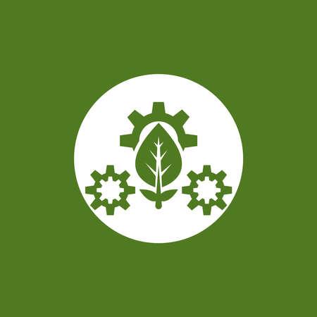 Eco green energy icon logo vector template illustration Ilustração