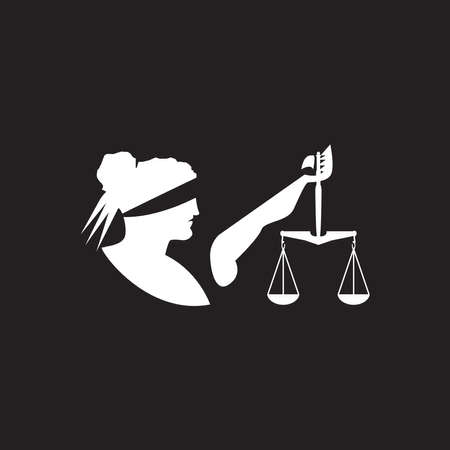 justice law Logo Template vector illsutration design Ilustração