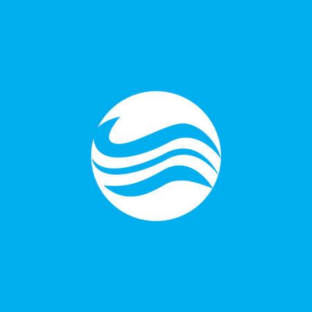 Water wave icon vector illustration design logo Ilustração